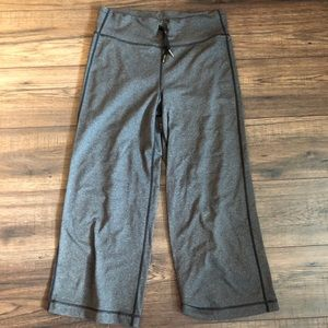 LuluLemon Grey Flared Capris